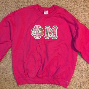 Phi Mu Lilly Pulitzer sweatshirt - M